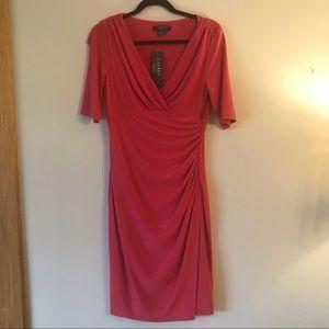 NWT Lauren Ralph Lauren Faux Wrap Dress Size 6